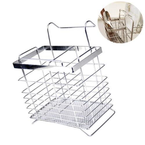 1PC Hanging Utensil Drying Rack Forks Flatware Storage Basket Drying Rack Holder