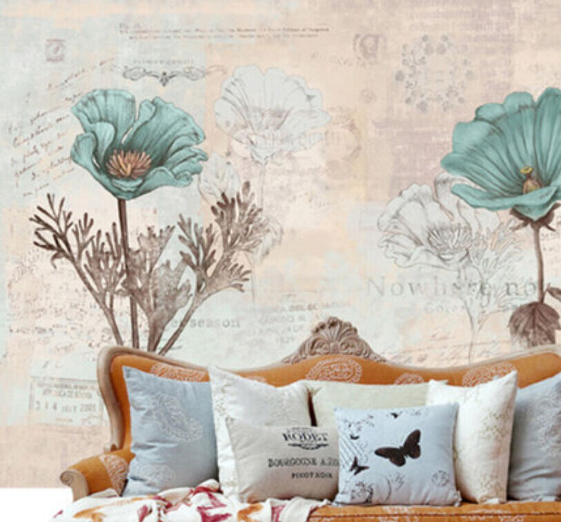 3D Fashional Flowers Painting 30 Wall Paper Wall Print Decal Wall AJ Wall Paper