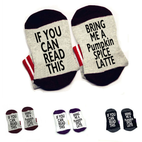 If you can read this bring me a Pumpkin Spice Latte socks cotton elastic socks