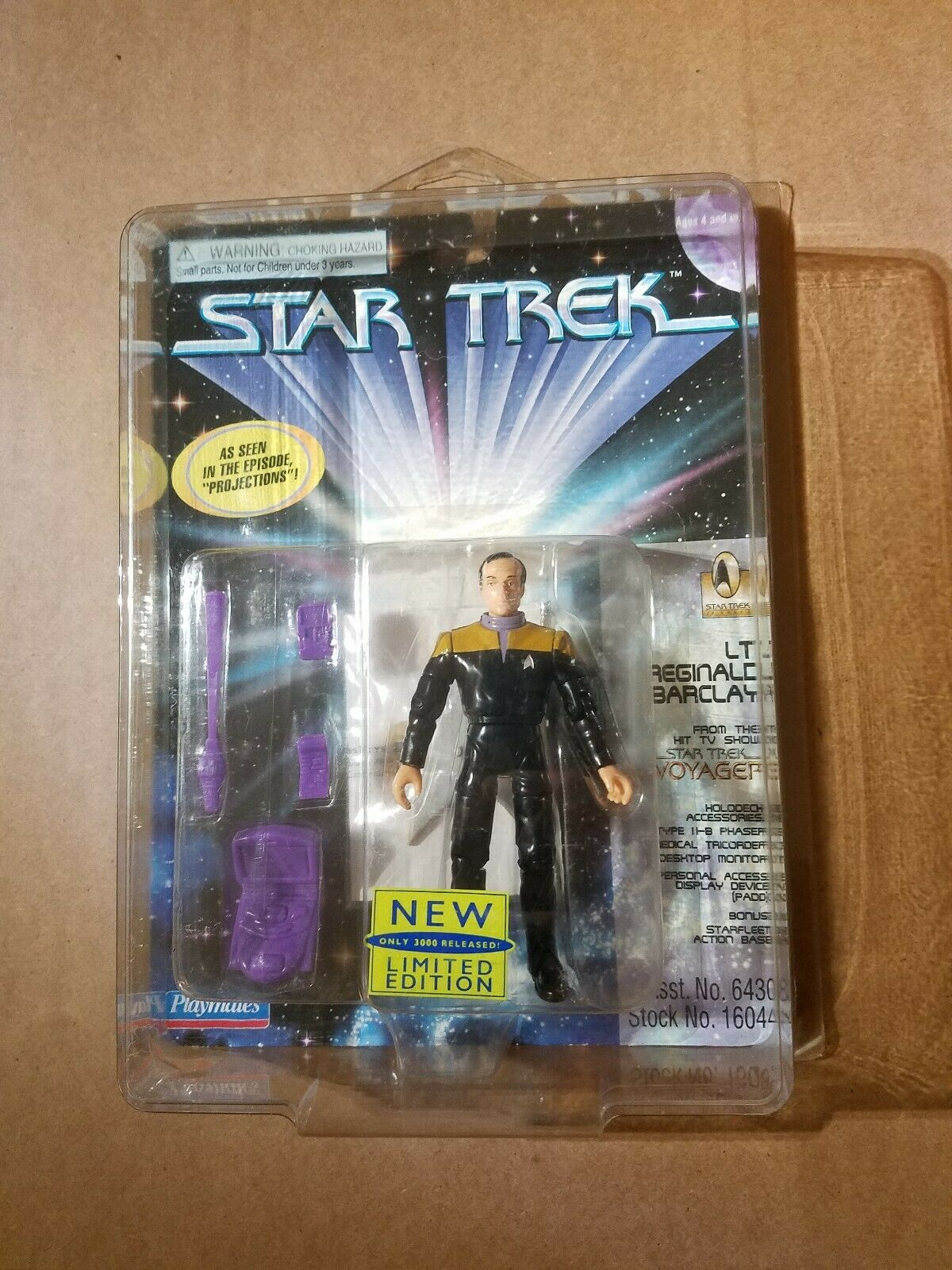Star Trek Lt. Reginald Barclay EXCLUSIVE LIMITED EDITION. Only 3000 Made