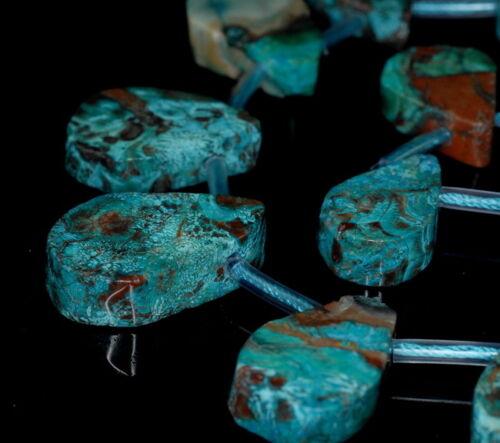 "33X22-23X16MM BLUE CASILICA GEMSTONE FREE SHAPE TEARDROP LOOSE BEADS 15.5/"""
