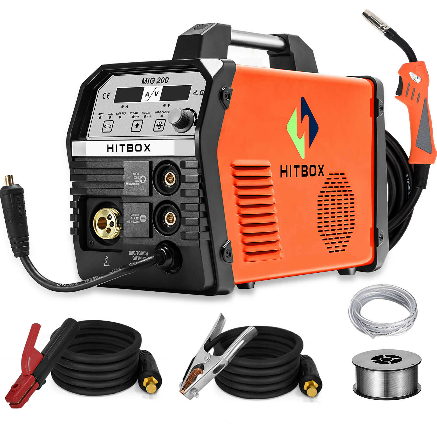 HITBOX 4IN1 200A MIG Welding Machine Gas Gasless Stick ARC Lift TIG MIG Welder. Buy it now for 279.99
