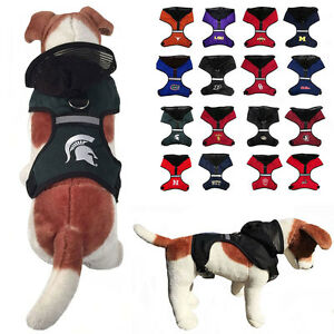 NCAA Dog Harness Vest Mesh Hood for Dogs Puppy Fan Gear Game Pick ... 678d51932