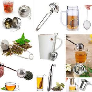 New Tea Infuser Ball Snap Mesh Loose Leaf Herbs Strainer Reusable Steel Secure