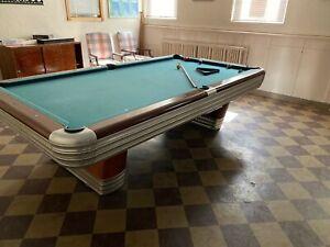 Vintage-Antique-Brunswick-Billiards-Mid-Century-Modern-9-039-Centennial-Pool-Table