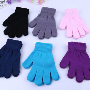 Kids-Magic-Gloves-amp-Mittens-Girl-Boy-Kid-Stretchy-Knitted-Winter-Warm-Gloves