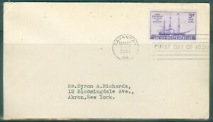 US-FDC-923-FIRST-STEAM-SHIP-TO-CROSS-ATLA-CANCL-MAY-22-1944-SAVANAH-GA-ADDR