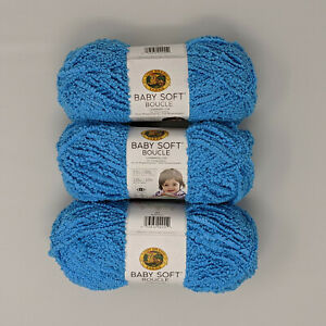 Lion-Brand-Baby-Soft-Boucle-Aqua-3-Skeins-100g-120yds