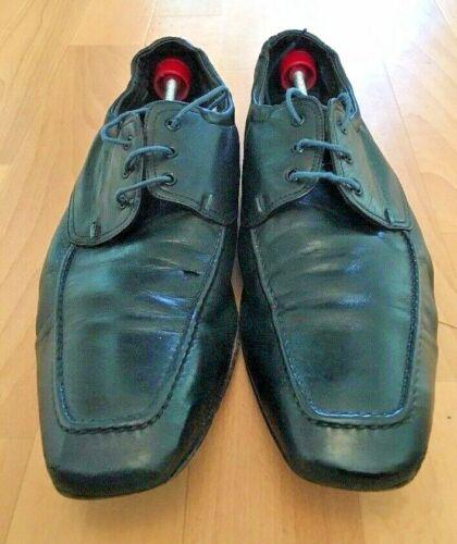 Ps avec 8 en lacets vrai cuir Chaussures Smith souples Paul Uk noir 8nwP0Ok