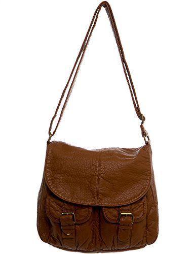 "Soft Vegan Leather Flap Crossbody for Women Handbag /""The Lexi Crossbody/"" by Ampe"