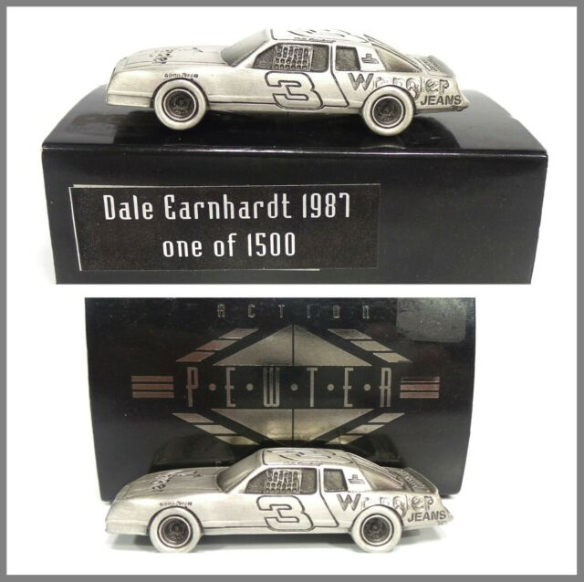 Dale Earnhardt 1987 Wrangler Aerocoupe 1 64 Pewter Car