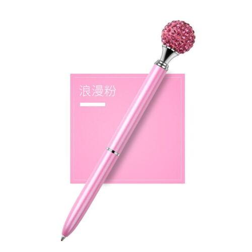 1X Metall Diamant Kopf Kristall Kugelschreiber Kreatives Briefpapier Geschenk