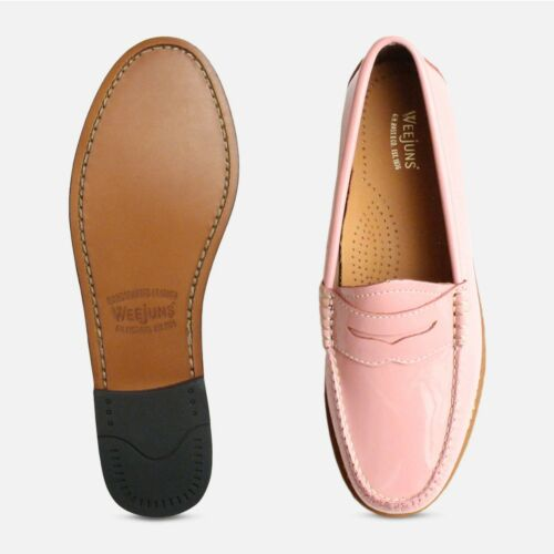 Pink Patent Leather Ladies Penny Loafers Bass Shoes