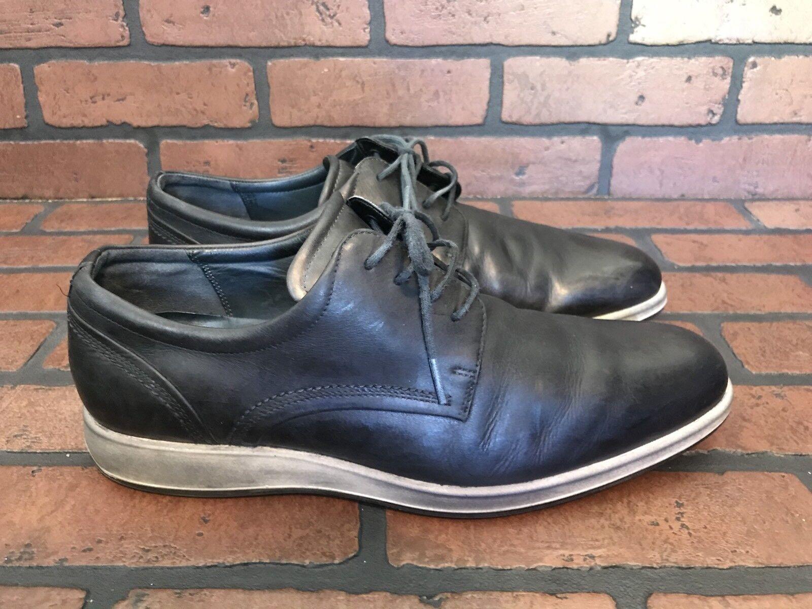 Ecco Oxfords Lightweight Comfort Black Leather Size 9.5 (EU 43)
