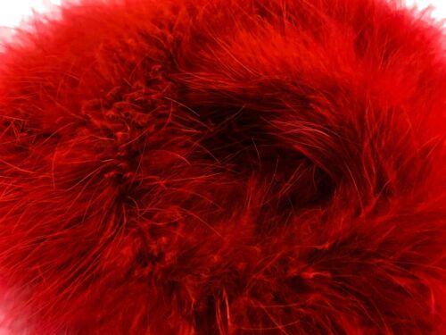 Red Turkey Medium Weight Marabou Feather Boa 25 Gram Craft Decor Party 2 Yards