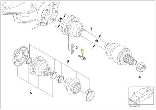 BMW Torx Head Bolt Screw M10 x 1.5 x 50 mm Grade 10.9 33211227279