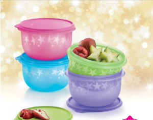 New-Tupperware-Twinkle-star-bowls-1-9L-x-4