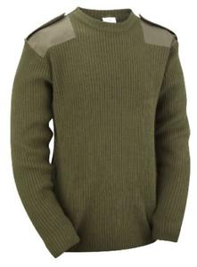 Verde-Oliva-Hombre-Cuello-Redondo-ejercito-militar-seguro-POLICE-Sueter-Pulover