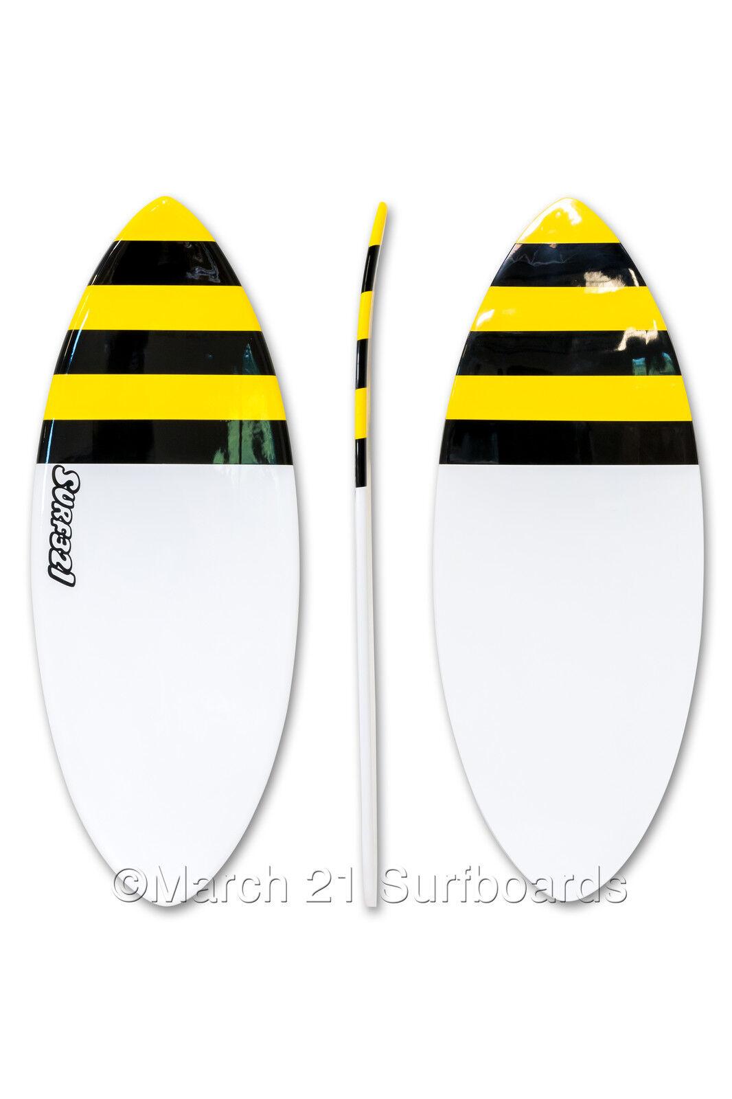 52  Epoxy EPS Skimboard Medium Pin Tail Bee Skim Surf