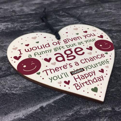 FUNNY 30th 40th 50th 60th Birthday Card Funny Mum Dad Nan Grandad Gift Plaque