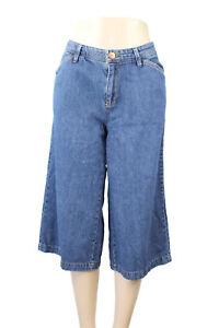 Bill-Blass-Women-039-s-Denim-Blue-Jeans-100-Cotton-Straight-Capri-039-s-Size-10-EUC