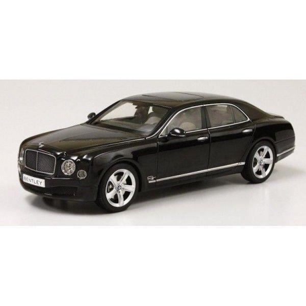 Kyosho 2014 Bentley Mulsanne Speed-Onyx Schwarz Creme Innen 1 18 Neu in Lager