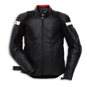 New-Dainese-Ducati-Dark-Armour-Leather-Jacket-Men-039-s-EU-58-Black-981027658
