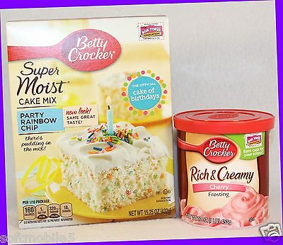 Fine Betty Crocker Party Rainbow Chip Cake Mix Rich Creamy Cherry Personalised Birthday Cards Vishlily Jamesorg