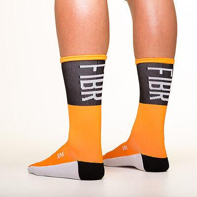Fibr Tall Socks Black cycling socks Copenhagen made in italy