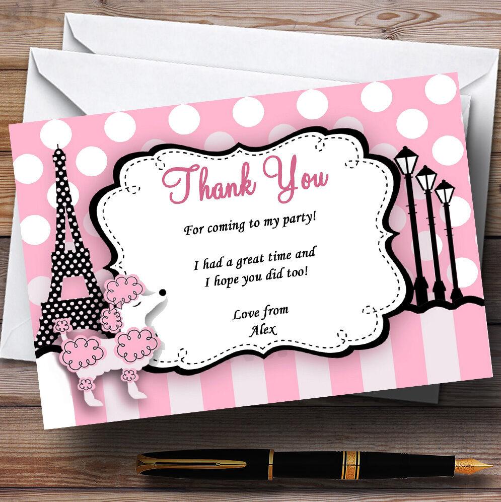 Pink Poodle paris D'Anniversaire Personnalisé Fête D'Anniversaire paris cartes remercieHommes t 7d7c54