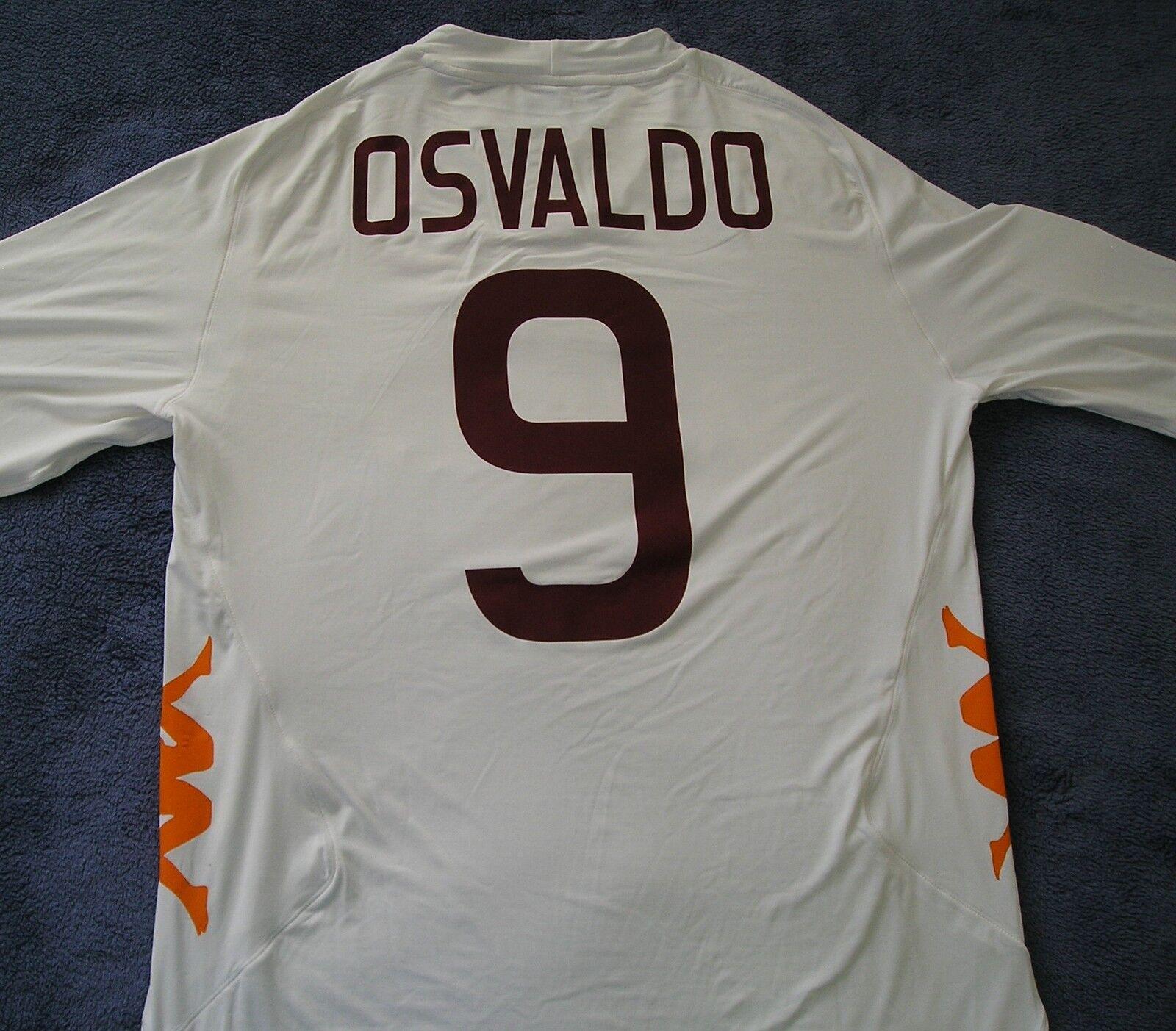 Poco común  Kappa como Roma auténtico Osvaldo Italia Camiseta De Fútbol Camiseta De Fútbol  para hombre 2XL