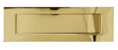 Victorian LETTER PLATE BOX Door Letterbox Sprung Brass Chrome Satin Heavy Duty