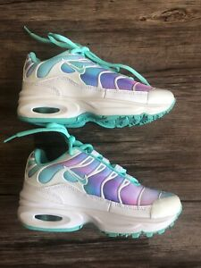 Details about Nike Air Max Plus Girls Sneakers Size 11c White Light Aqua Toddler Shoes Ocean
