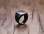 Anello-Fede-Fascia-Uomo-Donna-Unisex-Acciaio-Steel-Nero-Black-Incisione-Quadrato miniatura 5