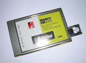Hyperdata PCMCIA 56K FAX MODEM Vista