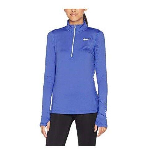 Nike Dri Fit Element Women's XS Half Zip Long Sleeve Running Top 904900 434 Blue