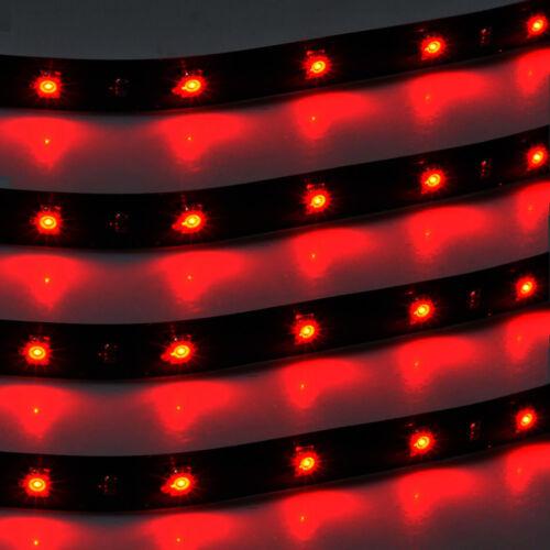 4 x 30cm Red 15 LED Car Motor Grill Flexible Waterproof Light Strip DC 12V Sales