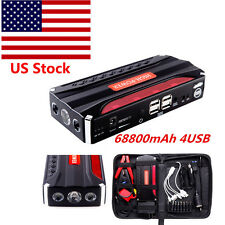 68800mAh 4USB Car Jump Starter Emergency Charger Booster Power Bank Battery SOS