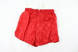 Vintage-90s-New-Yale-Sportswear-Youth-Large-Nylon-Checkered-Soccer-Shorts-Red