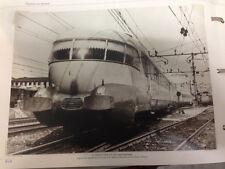 RIPRODUZIONE FOTO ALINARI IL TRENO ETR 250 18X24 FINE ANNI '40 (6)