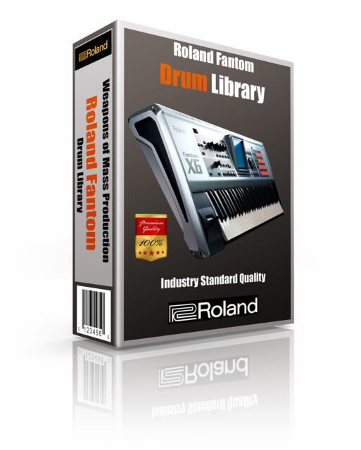 Roland Fantom X6 sounds and samples library: digital delivery