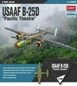 Academy-1-48-USAAF-B-25D-Pacific-Theatre-Aircraft-Bomber-Pla-model-kit-12328