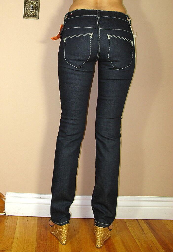 Diesel Italia Italia Italia Brucke Slim Vita Alta Stretch Donna Scuro Jeans 24 25 26 Run S ecc85b