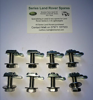 Land Rover Series 2, 2a & 3 Stainless Steel Front Wings To Bulkhead Fixing Kit
