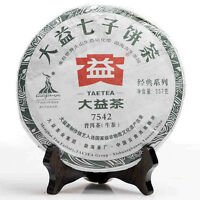 2010 Taetea Menghai DaYi 7542 Shen Pu-erh Tea Pie Raw 357g P252