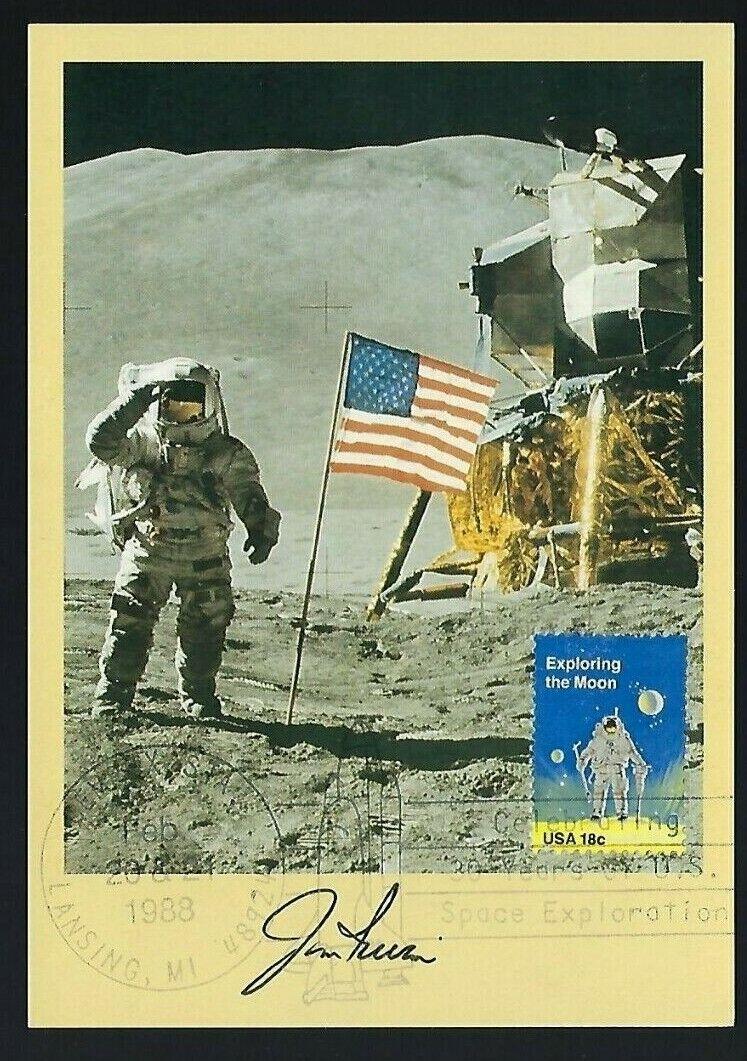 "s l1600 - Jim Irwin signed 4""x6"" V.I.P. Card Apollo 15 Astronaut NASA"