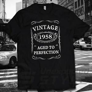 c274795c0 Image is loading 60th-Birthday-VINTAGE-1958-AGED-TO-PERFECTION-T-