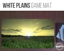 """White Plains Land Game Mat - 12"""" x 22"""" Neoprene - MTG Magic Card Desk Mat"""
