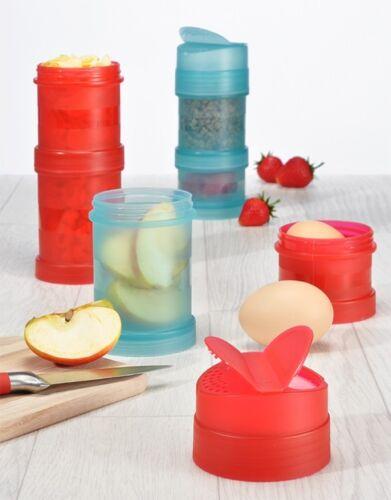 Frühstücksdosen Snackdosen Aufbewahrungsdosen Aufbewahrungsbox Lunchbox 4er-Set