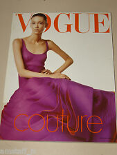 VOGUE MAGAZINE ITALIA=1999 AUGUST=Couture by Steven Meisel=Paolo Roversi=